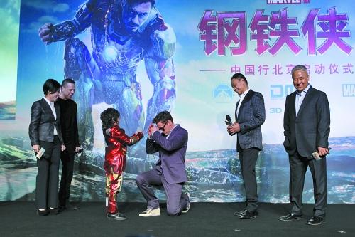 范冰冰钢铁侠打酱油_小罗伯特·唐尼亮相北京为《钢铁侠3》宣传范冰冰确认只出现在\