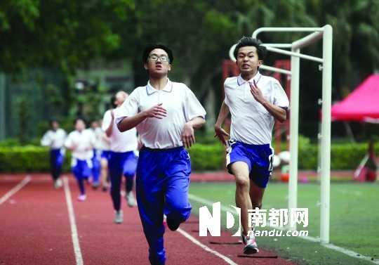 实习生 刘莹 通讯员 穗考宣 昨天上午,海珠区历时8天的中考体育考试在图片