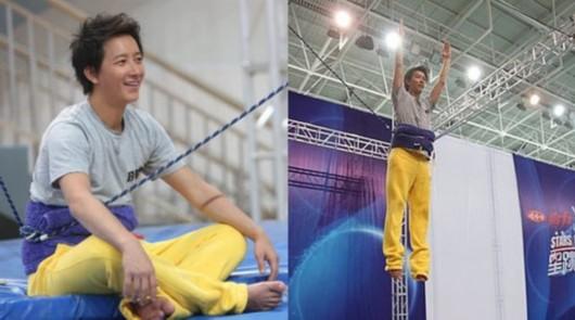超级人气王韩庚参加江苏卫视跳水节目,成为收视保证。