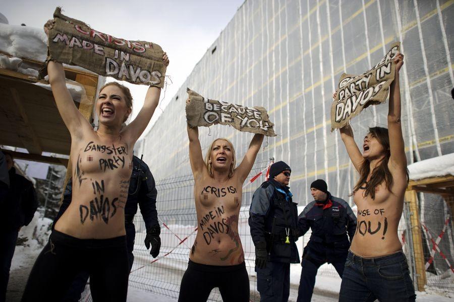 """【组图】乌克兰女权组织femen:""""裸体圣战""""发起人出自普通家庭 成员多"""