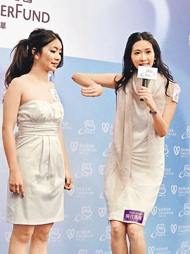 林志玲为女模作乳房检查示范时,全程只动口不动手。
