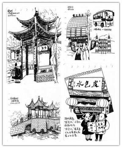 北京游客手绘扬州游攻略(组图)