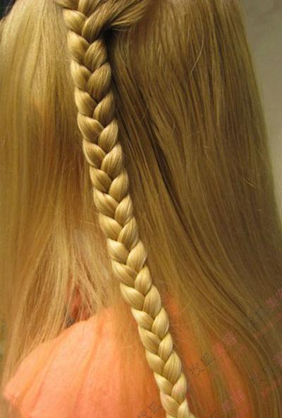 法式瀑布编发; 短发马尾; 瀑布辫的编法图解;