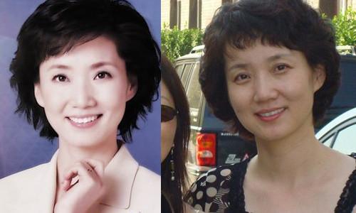 揭央视女主播素颜照 周涛李思思台前台后差异大 ...