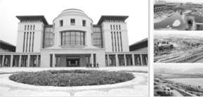 图澳门大学横琴校区标志性建筑图书馆;图为澳门大学横琴校区中央教学区;图为澳门大学横琴校区鸟瞰图;图为正在拆除的海底隧道围堰。 来源 法制日报