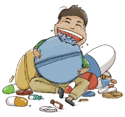张弛医生说:比如,药品应该放在小朋友不易拿到的地方,家长的床头柜图片