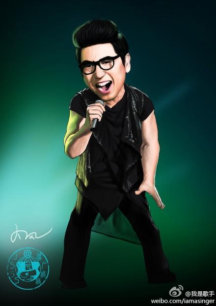 《我是歌手》林志炫羽泉杨宗纬黄绮珊尚雯婕等父与子漫画2图片