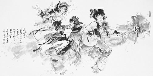 舞蹈社团纳新海报手绘