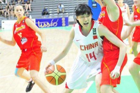 李明阳曾代表中国青年女篮出征世青赛(资料图)