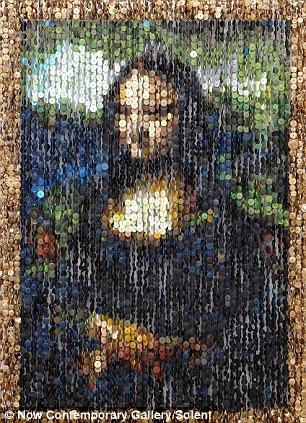 艺术 纽扣/奥古斯都用纽扣创作的《蒙娜丽莎》