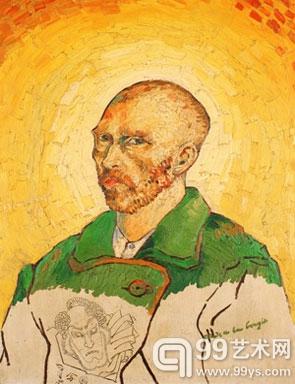 被认为是梵高作品的画作《烛光下的习作》(study by candlelight)