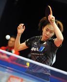 图文:乒乓球亚洲杯首日赛况 石川佳纯回球