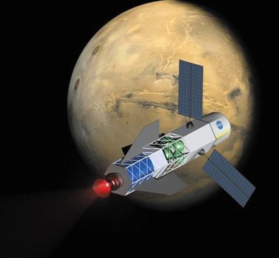核聚变火箭想象图。