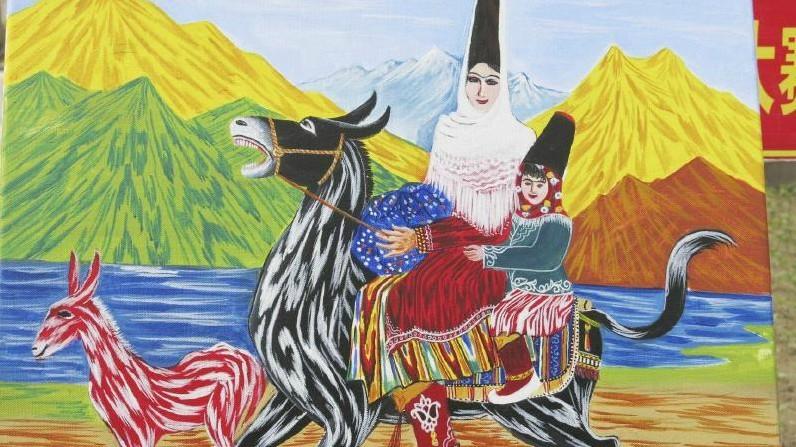 要保护好新疆原生态的农民画(图)图片