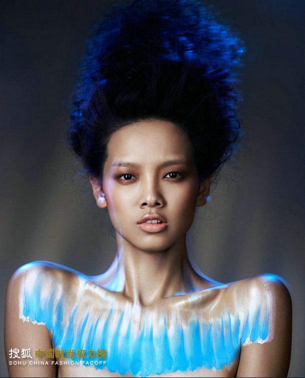 潘燕《时尚cosmo》四月彩妆大片:藤花物语图片