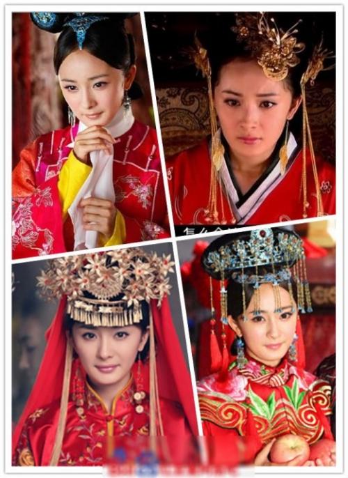 菲范冰冰刘诗诗 女星古装婚纱照变美艳新娘 搜