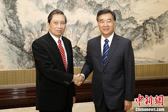 汪洋会见泰国副总理包巴索(图)