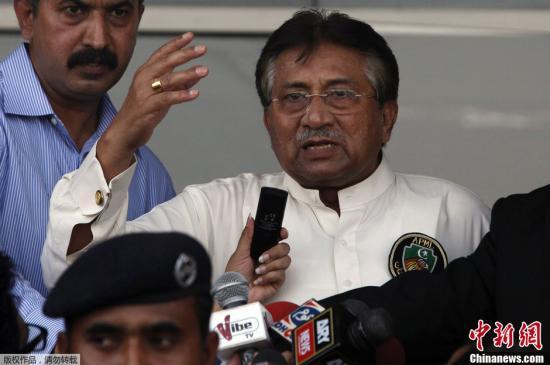 当地时间3月24日,巴基斯坦卡拉奇,在辞去巴基斯坦总统职务并离开国家4年多之后,佩尔韦兹・穆沙拉夫当日乘飞机从迪拜抵达卡拉奇,踏上了自己的回国之路。