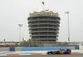 图文:F1巴林站第三次练习赛 莱科宁进行练习