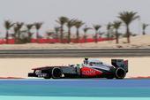 图文:F1巴林站排位赛 佩雷兹在比赛中
