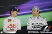 图文:F1巴林站排位赛 维特尔与罗斯伯格