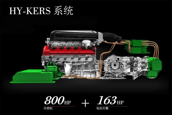 搭载的6262cc排量的V12发动机可输出800马力的功率,加上电动机的163马力,总功率高达960马力