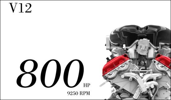 v12发动机是应用在法拉利公路版跑车上动力最强劲的自然吸高清图片