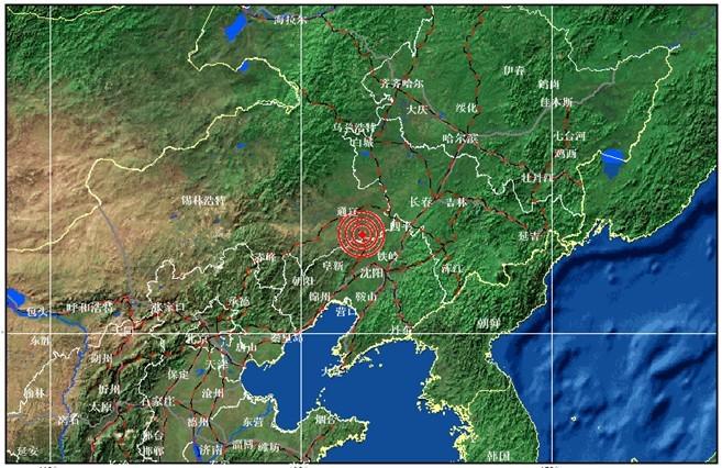 9度,东经122.4度发生5.3级地震,震源深度6千米.
