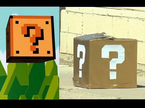 """坦贝市马路上出现类似《超级玛丽》中的""""问号箱"""""""