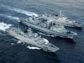 南海舰队编队巡航钓鱼岛附近海域