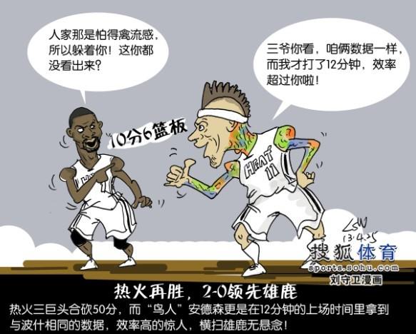 NBA漫画:鸟人发飙高清曝光雄鹿惧禽流感快看原因壁纸漫画图片