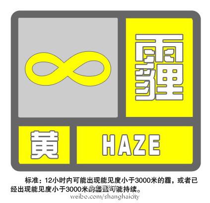 黄色囹?a???9??:l?_申城发布霾黄色预警 预计中度霾持续到下午(图)