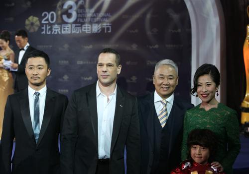 北京国际电影节钢铁侠剧组王一鸣小宝