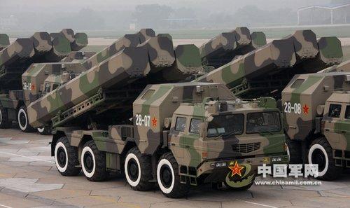 资料图:解放军长剑10巡航导弹参加国庆阅兵排练。