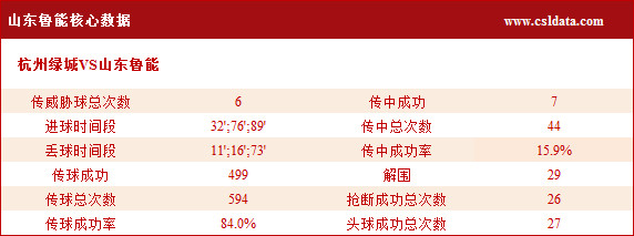 (3)山东鲁能核心数据