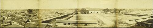 史上首张北京城全景图,摄于老北京城墙,1860年10月24日