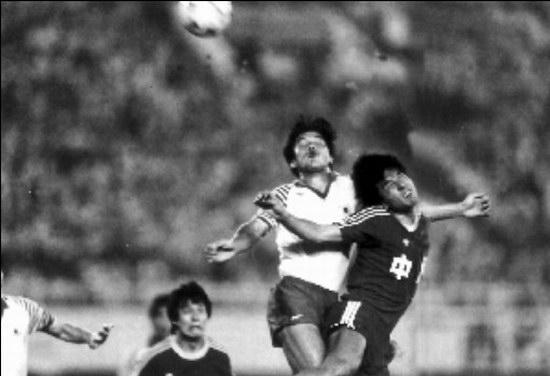 中国队在1988年汉城奥运会预选赛上图片