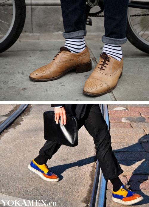 男人凉鞋配袜子