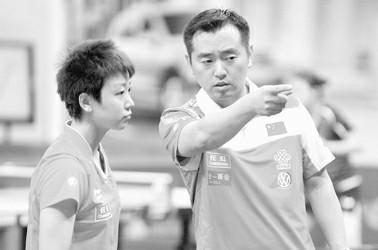 图片说明:孔令辉当教练后首次面对国际大赛 图IC