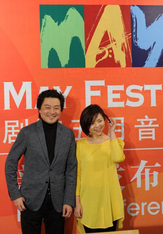 小提琴家吕思清与钢琴家陈萨是2013国家大剧院五月音乐节推广大使