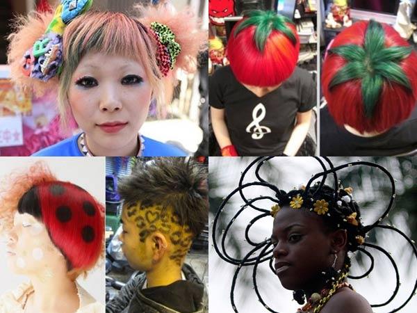 盘点日本造型师的另类奇葩发型图片图片