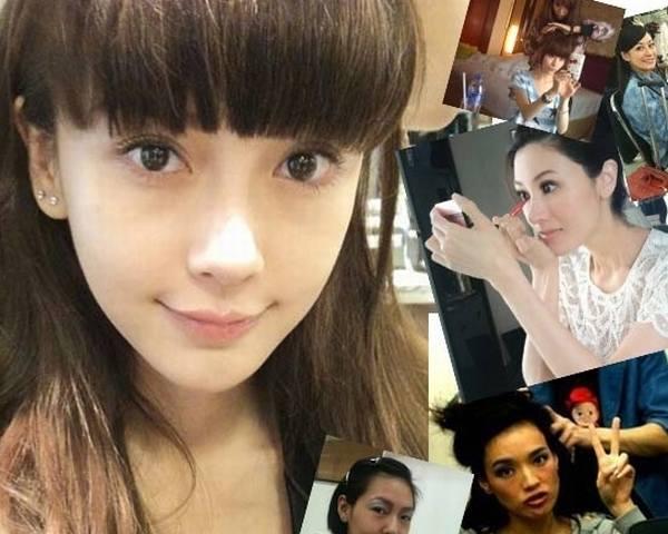 女明星化妆视频_女星在化妆间到底什么样 揭明星半妆素颜照(组图)-搜狐滚动