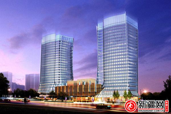 乌鲁木齐晚报报业大厦红光山奠基(图)