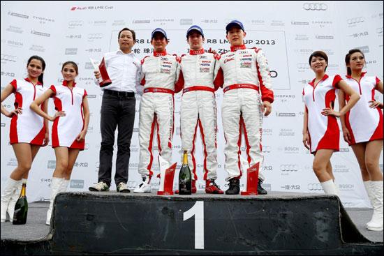 第二回合专业组获胜者从左至右:熊龙(第二名)、安德列・库托(第一名)、方骏宇(第三名)