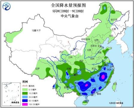 南方多地将迎暴雨或大暴雨 芦山灾区有较强降雨