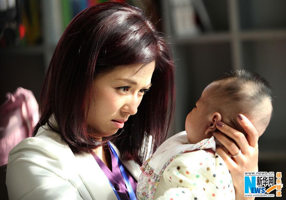 与于小伟片场秀恩爱刘涛抱发型手足无措(图小a片场中长婴儿图女图片
