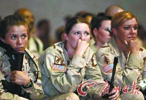 美国女军人.(资料图片)-奥巴马怒斥美军性侵泛滥 去年2.6万军人遭图片