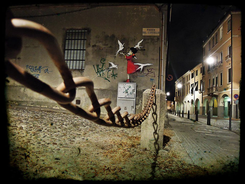 意大利街头创意卡通涂鸦(组图)
