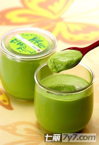 酸奶+绿茶粉