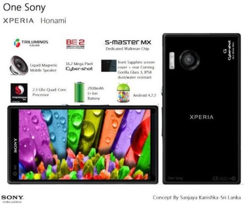 网友设计的One Sony手机